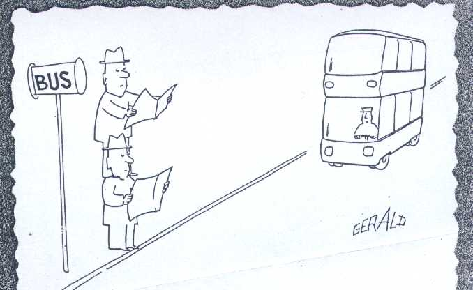 French cartoon, Paris bus