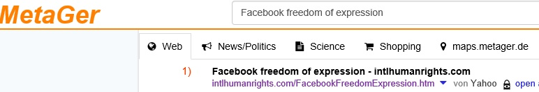Facebook freedom of expression ☆